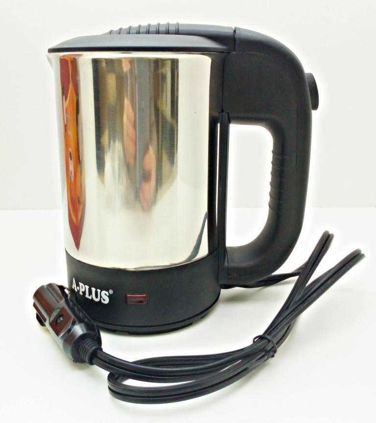 Чайник автомобильный от прикуривателя нержавека 0,5L 12V + две чашки!