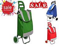 Тачка тележка сумка с колёсиками хозяйственная для покупок 95cm свободные руки