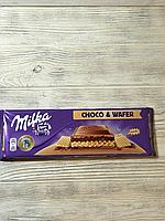 Молочный шоколад MIlka Choco & wafer  300