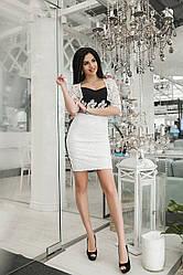 Коктейльна сукня з мереживним болеро 3677