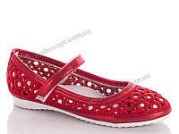 Туфли на девочек. Yalike 130-2 Красный (8пар, 30-37)