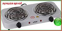 """Плита электрическая двухкомфорочная спираль 2х1000W """"А-Плюс"""" 2103"""