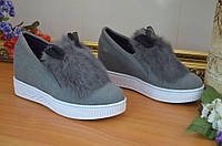 Слипоны ботиночки   женские ушки размер 38 40 41 в наличии