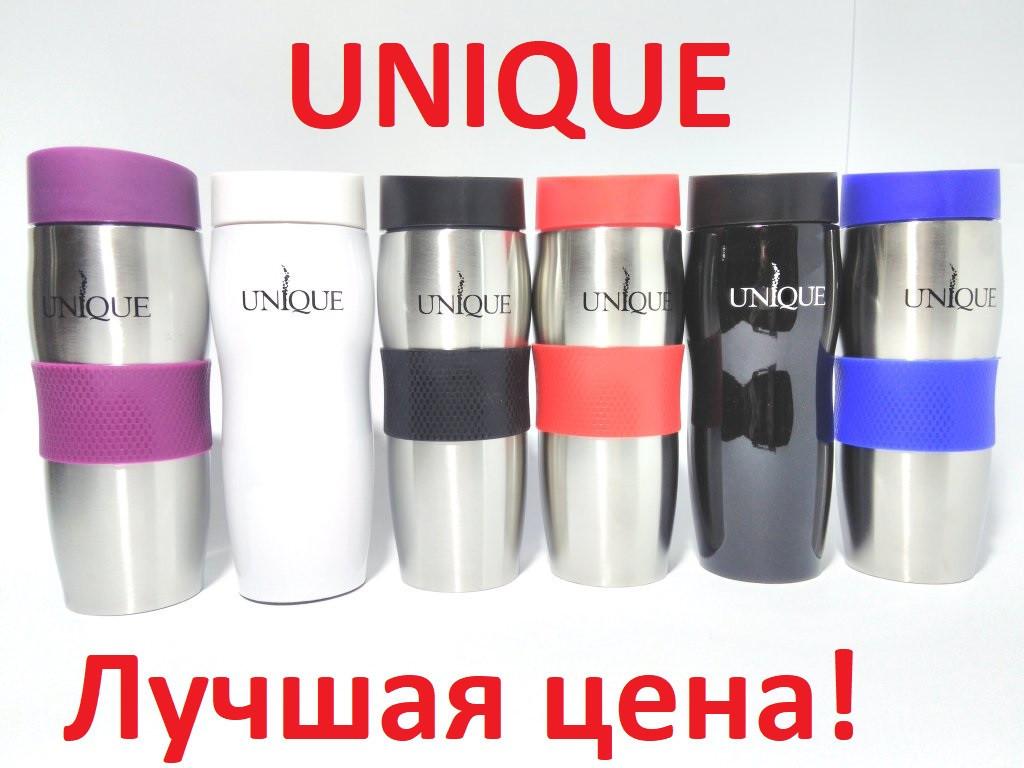 Термокружка Термостакан UNIQUE 380 ml нержавейка с клапаном и поильником UN-1072