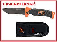 Нож складной туристический прорезиненная ручка Bear Gerber 21см в чехле  подарочная коробка серрейтор К-200