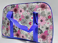 Сумка дорожная женская с двумя ручками цветная размер 46*30*22 см Цветы