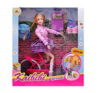 Кукла на велосипеде Каibibi BLD143 Дорога в школу