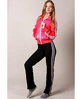 Спорт женский черный-розовый №7 Код:661524857