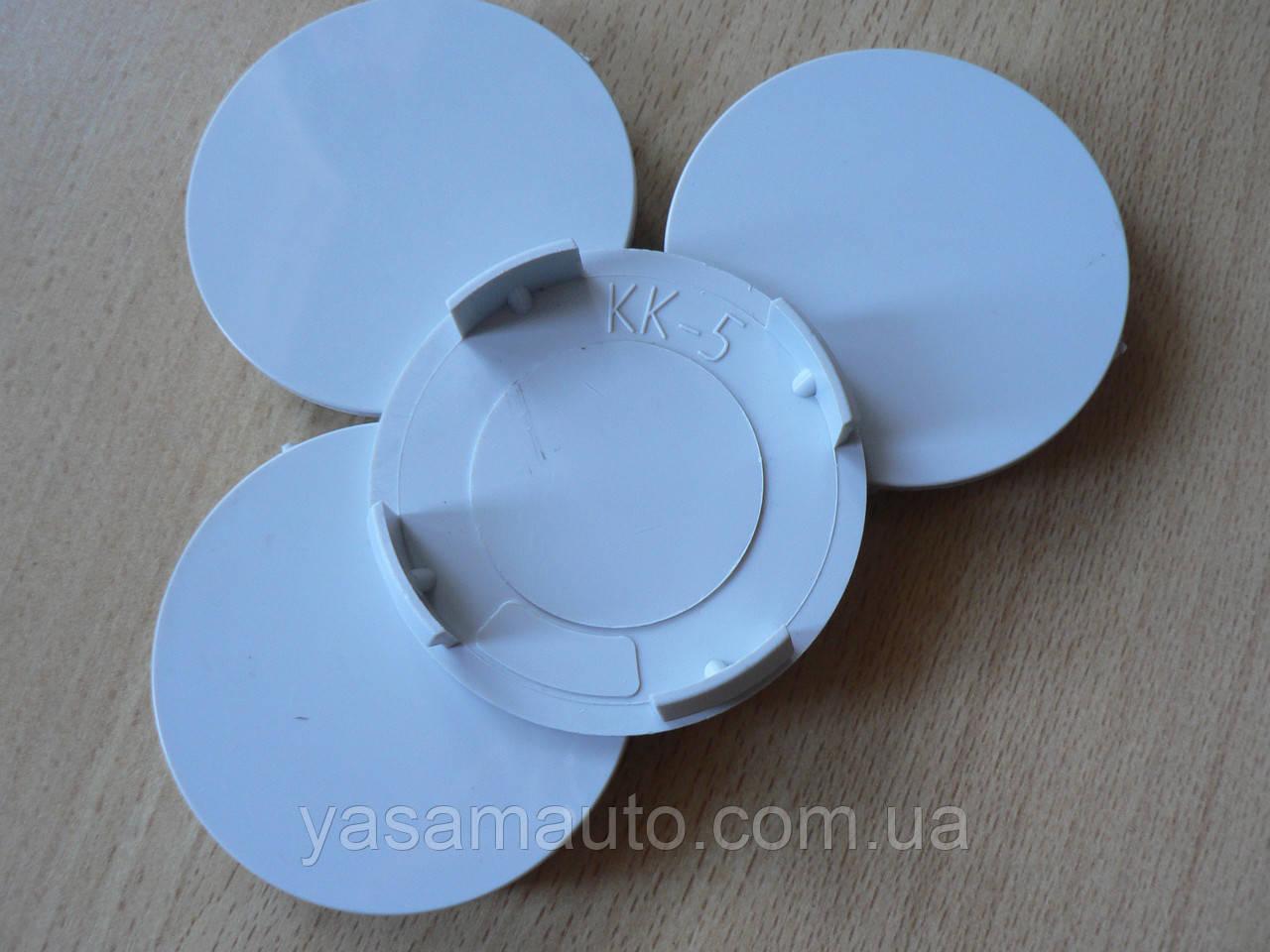 Колпачок серый  59,8/56,3/58,3мм 4шт вставка KK5 заглушка диаметры в на литой диск пластиковая 4 ножки №04