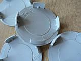 Колпачок серый  59,8/56,3/58,3мм 4шт вставка KK5 заглушка диаметры в на литой диск пластиковая 4 ножки №04, фото 4