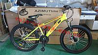 Подростковый велосипед 24 дюйма 13 рама Fox полусобранный Азимут, фото 1