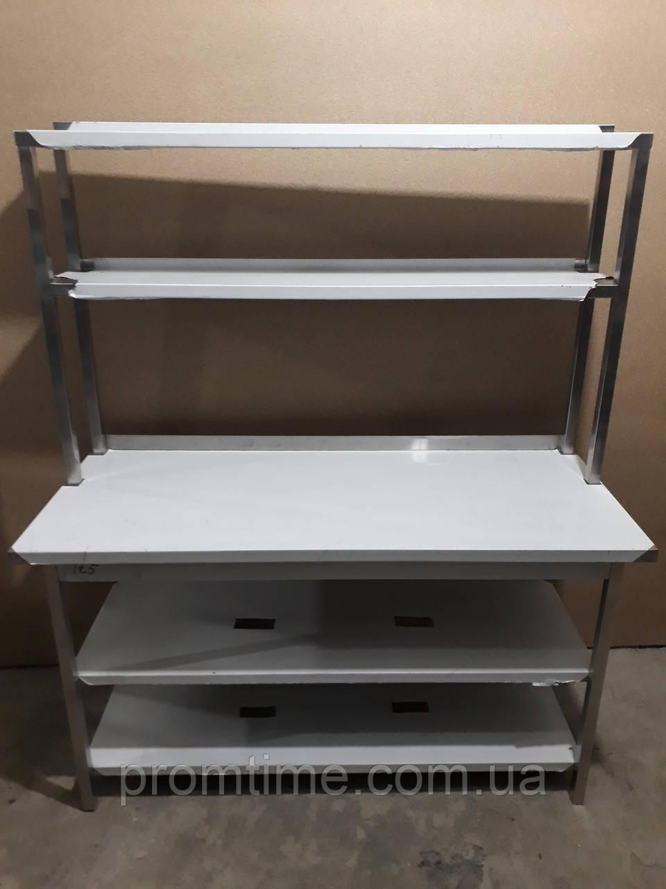 Стол производственный c полкой-надстройкой 1450х600х1700