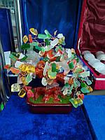 Дерево из камня самоцветов (цветное)