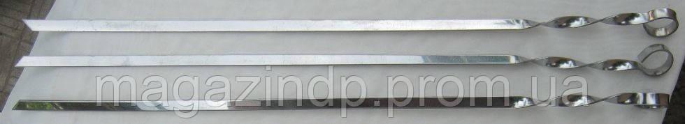 Набор шампуров 10 штук (плоские) Код:475253450
