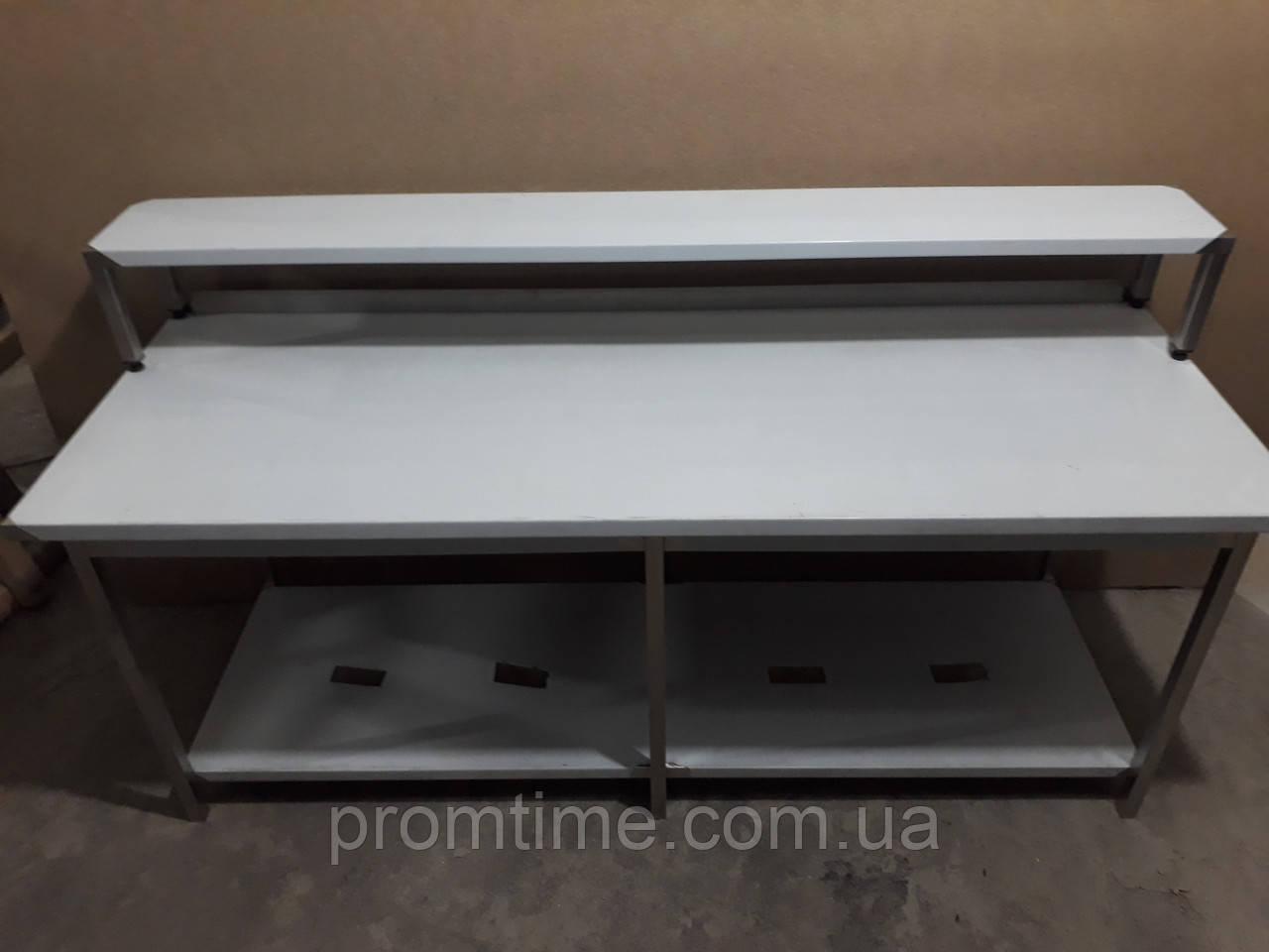 Стол производственный c полкой-надстройкой 2000х600х1050