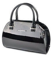 ab2b722fd8fb Женская кожаная сумка лаковая каркасная небольшого размера