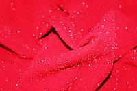 Красный. Ткань креп дайвинг люрекс мягкий,тонкий весенний, красный