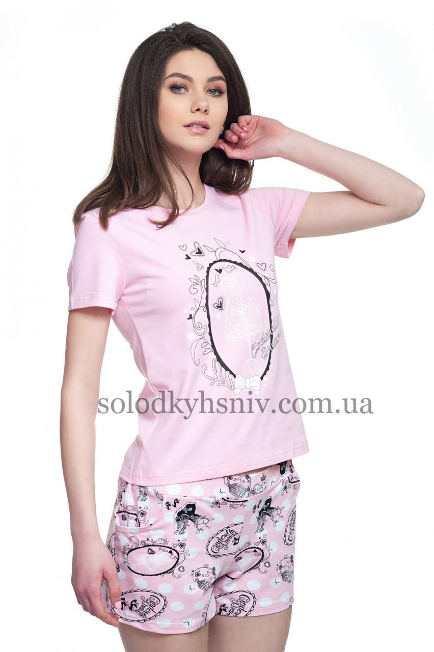 Жіноча Піжама ELLEN шорти+футболка Ретро 044 005  продажа d19cfcd3dd0ca