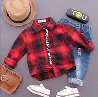 Рубашка детская 2-8 лет KATOOFELY collection красная