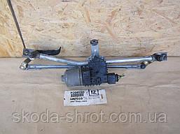6Y1 955 023C механизм трапеции, мотор стеклоочитителя Шкода Фабия 6Q1 955 119A