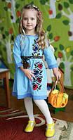 Вышитое детское платье с цветочной вышивкой Мальвы