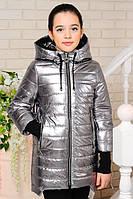 """Куртка демисезон """"Вилена-2"""" серебро 2"""