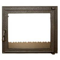 Дверцы для камина печи барбекю CARMEN 560x500 мм. Печная дверца со стеклом