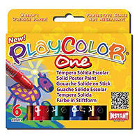 "Гуашь ( Témpera Sólida Escolar ) INSTANT PlayColor ""One"" Basic 6цв."