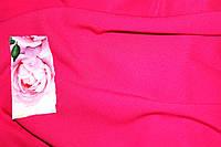 Малина.Ткань креп Летняя не стрейч, насыщеный цвет, фото 1
