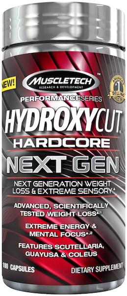 Жиросжигатель MuscleTech Hydroxycut Hardcore Next Gen 180 caps