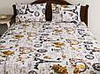 Постельное белье Lotus Ranforce Louvre кофейное двухспального евро размера, фото 3