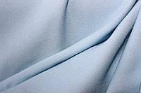Ткань креп Летняя не стрейч, нежный голубой, легкое свечение , фото 1