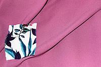 Ткань креп Летняя не стрейч , чайная роза насыщенный цвет, фото 1