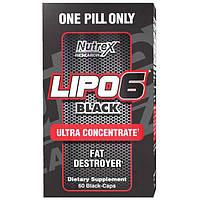 Жиросжигатель Lipo-6 Black Ultra concentrate Nutrex (60 капс.)