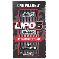 Жирозигатель Lipo-6 Black Ultra concentrate Nutrex (60 капс.)