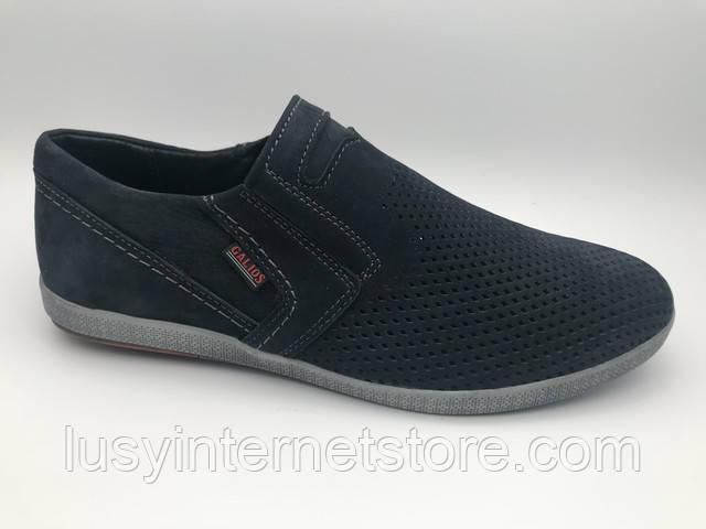 70ffec77 Туфли мужские замшевые перфорация на резинке, замшевая обувь мужская от  производителя модель Г21