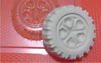 Пластиковая форма для мыла колесо