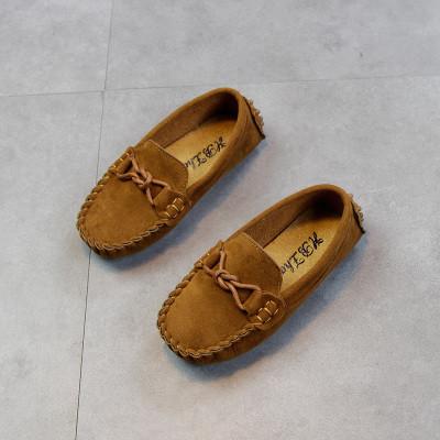Детские мокасины на шнуровке