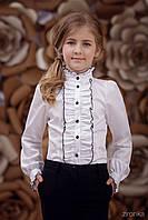 Детская школьная детская блузка  для девочки 3656-2
