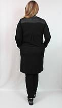Женский весенний кардиган Далида (Турция) 50 52 54 56 р черный, фото 2