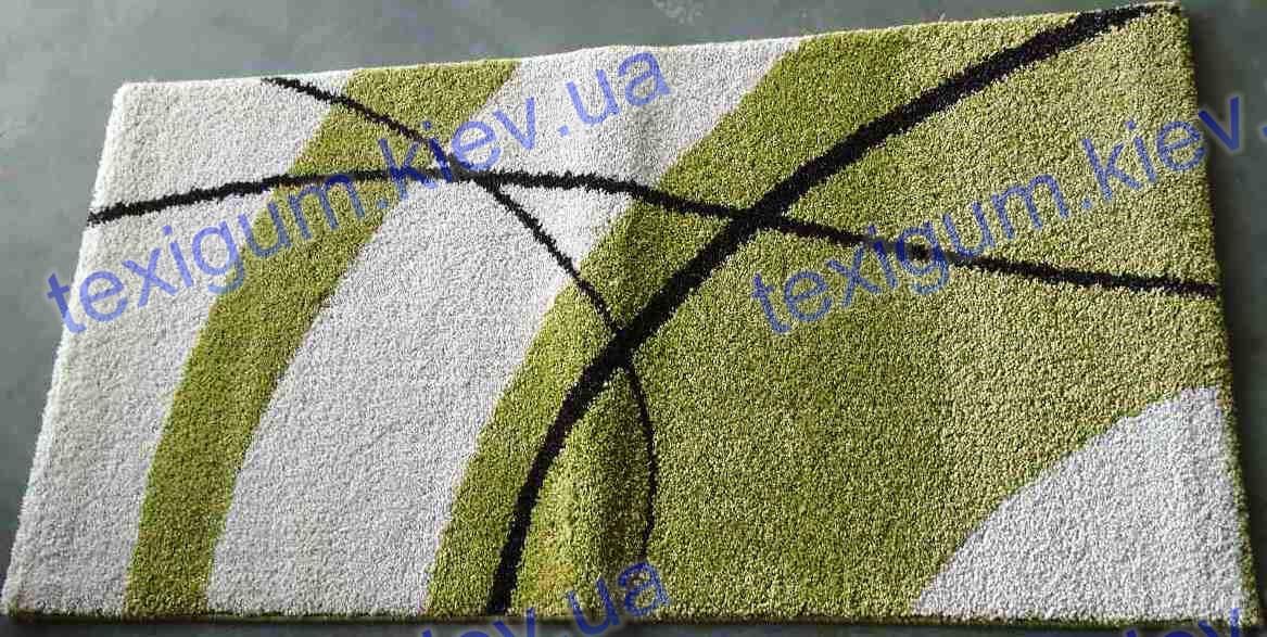 Ковер Optima Waves, цвет бело-зеленый
