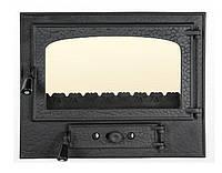 Дверцята для каміна печі барбекю Rustic Mare 580x490 мм. Пічна дверцята зі склом, фото 1