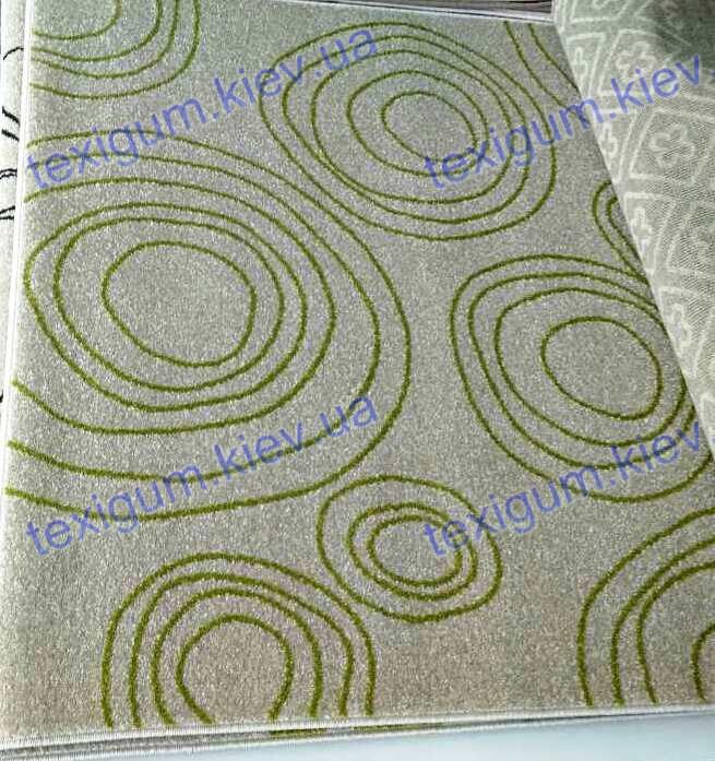 Килим Optima Circle, колір слонової кістки з зеленим