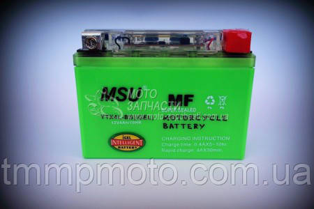 Аккумулятор гелевый 12V/4A MSU I-GEL 2018 год 18-го года, фото 2