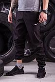 Чорні модні спортивні штани President - плащівка