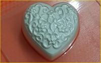 Пластиковая форма для мыла Сердечко с узором