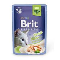 """Влажный корм Brit Premium Cat Pouch JELLY Trout Fillets """"Филе форели в желе"""" 8,5/4,5 (для взрослых кошек), 85 гр"""