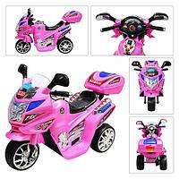 Детский мотоцикл М 0638: 6V, 12W, 2.5 км/ч - РОЗОВЫЙ - купить оптом