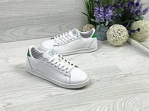Кросівки-кеди жіночі Vans білі з зеленим 38,39 р
