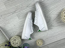 Кроссовки кеды женские Vans белые с зеленым, фото 3